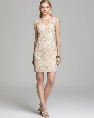 Sue Wong Cap Sleeve Dress