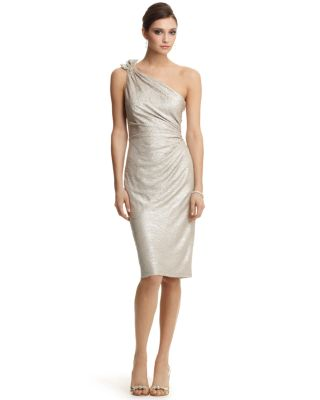 David Meister -shoulder Metallic Dress Bloomingdale'