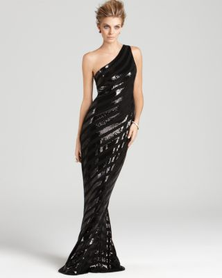 David Meister Gown - Shoulder Sequin Bloomingdale'