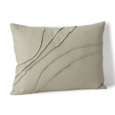 """Calvin Klein Home Pleated Wave Decorative Pillow 12"""" X 16"""