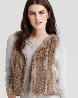 America Classic Fur Vest Bloomingdale'