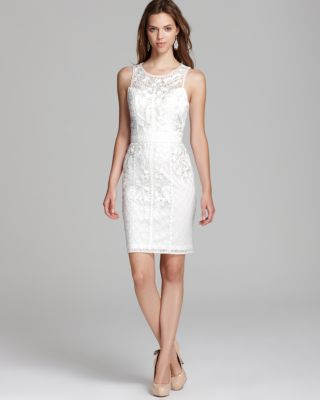 Sue Wong Short Dress - Ribbon Embroidered Bloomingdale'