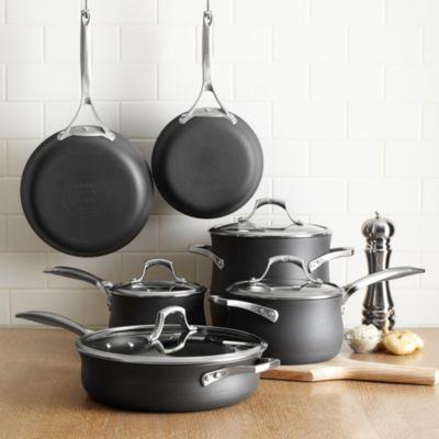 kitchen essentials by calphalon how much does an outdoor cost unison nonstick 10 piece cookware set