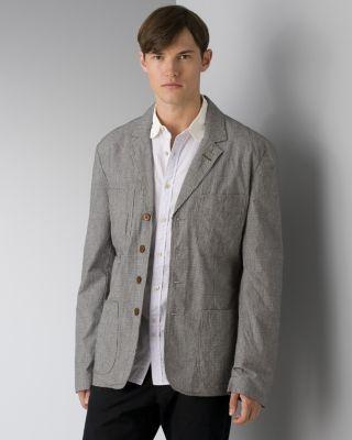 Paul Smith Men's Houndstooth Organic Cotton Blazer