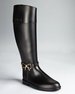 Moschino Cheap And Chic Rain Boots - Bow Detail Bloomingdale'