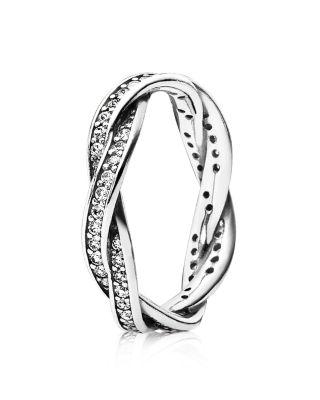 PANDORA Ring  Sterling Silver  Cubic Zirconia Twist of