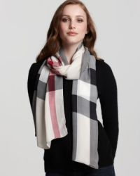 Burberry Core Creppone Check Oblong Scarf   Bloomingdale's