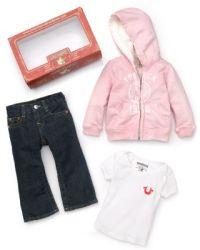 True Religion Infant Girls' 3 Piece Set: Logo Hoodie, Tee ...