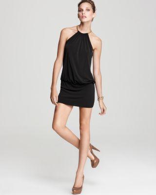 Laundry Shelli Segal Jersey Blouson Halter Dress