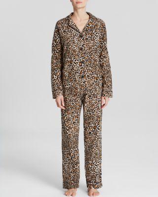 Pj Salvage Leopard Print Flannel Pajama Set Bloomingdale'