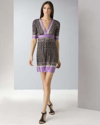 BCBGMAXAZRIA Women's Ribbon Printed Jersey Dress
