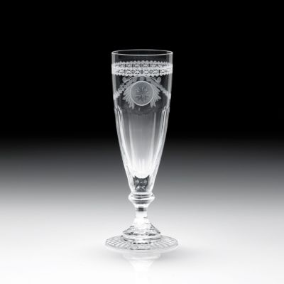 "William Yeoward Crystal ""pearl"" Champagne Flute"