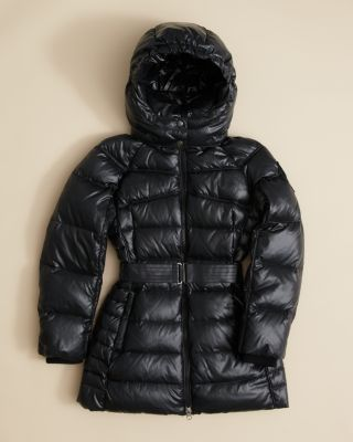 Add Outerwear Girls' Long Belted Puffer Jacket - Sizes Xxs