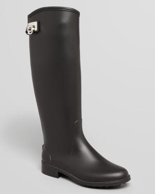 Salvatore Ferragamo Tall Rain Boots - Ruben Logo Bloomingdale'