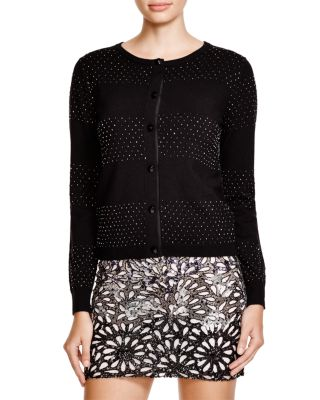 jeweled black cardigan and mini skirt www.showmethemuhnie.com