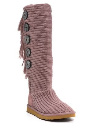 UGG® Australia Fringe Cardy Knit Boots