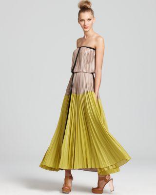 BCBG Strapless Maxi Dress