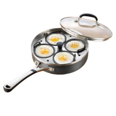 kitchen essentials by calphalon stand alone cabinets simply nonstick 4 cup egg poacher and lid