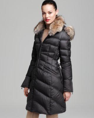 Dawn Levy Coat - Cloe Fur Collar & Hood Bloomingdale'