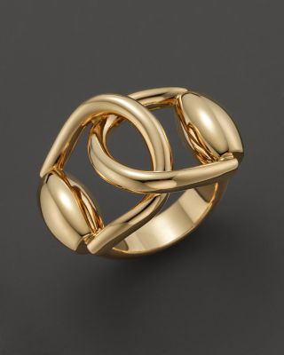 Gucci 18K Yellow Gold Horsebit Double Ring  Bloomingdales