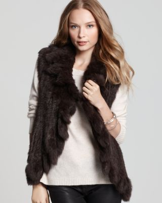 Quotation 525 America Vest - Rabbit Fur With Ruffle Bloomingdale'