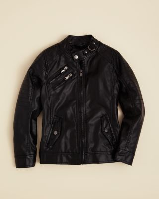 Boys Black Leather Jackets Size 8 20