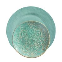 Merritt Artisan Crackle Melamine Dinnerware Collection
