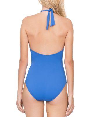 Gottex Au Natural Halter One Piece Swimsuit In Dusk Blue | ModeSens