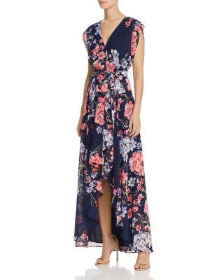 Eliza  obi floral print high low dress also dresses bloomingdale   rh bloomingdales