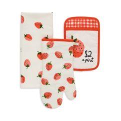Kate Spade Kitchen Backsplash Murals Bloomingdale S New York Strawberry Print 3 Piece Linen Set