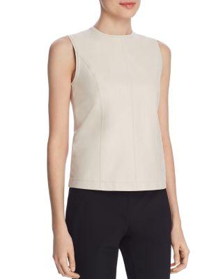 Elie tahari kai leather panel top also   clothing dresses pants bloomingdale  rh bloomingdales