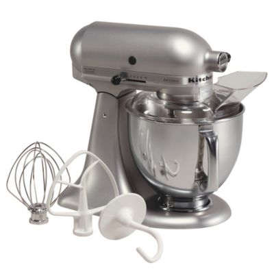 kitchen aid 5 qt mixer fluorescent light fixtures kitchenaid artisan quart tilt head stand with stainless steel bowl ksm150ps
