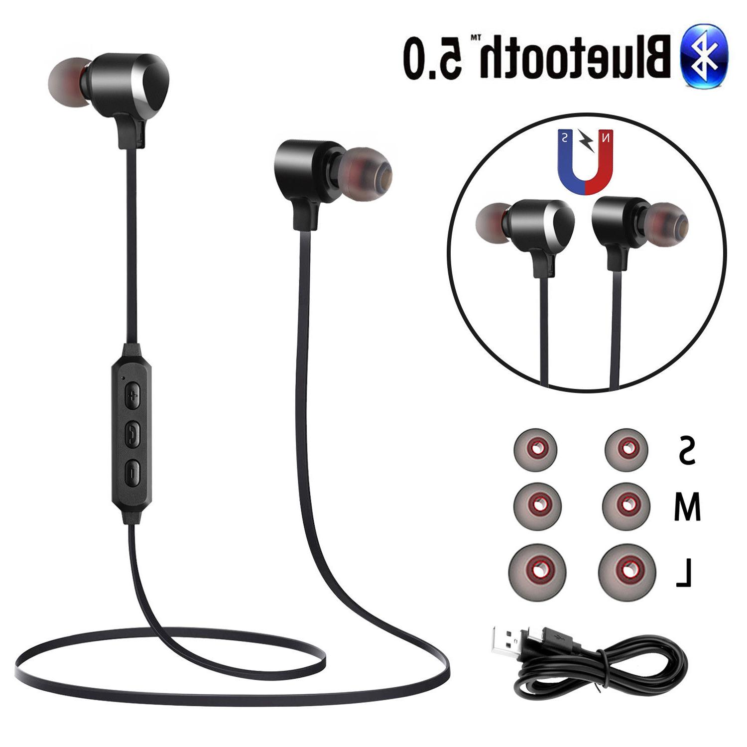 Wireless Bluetooth 5.0 Headset Stereo Headphones Magnetic
