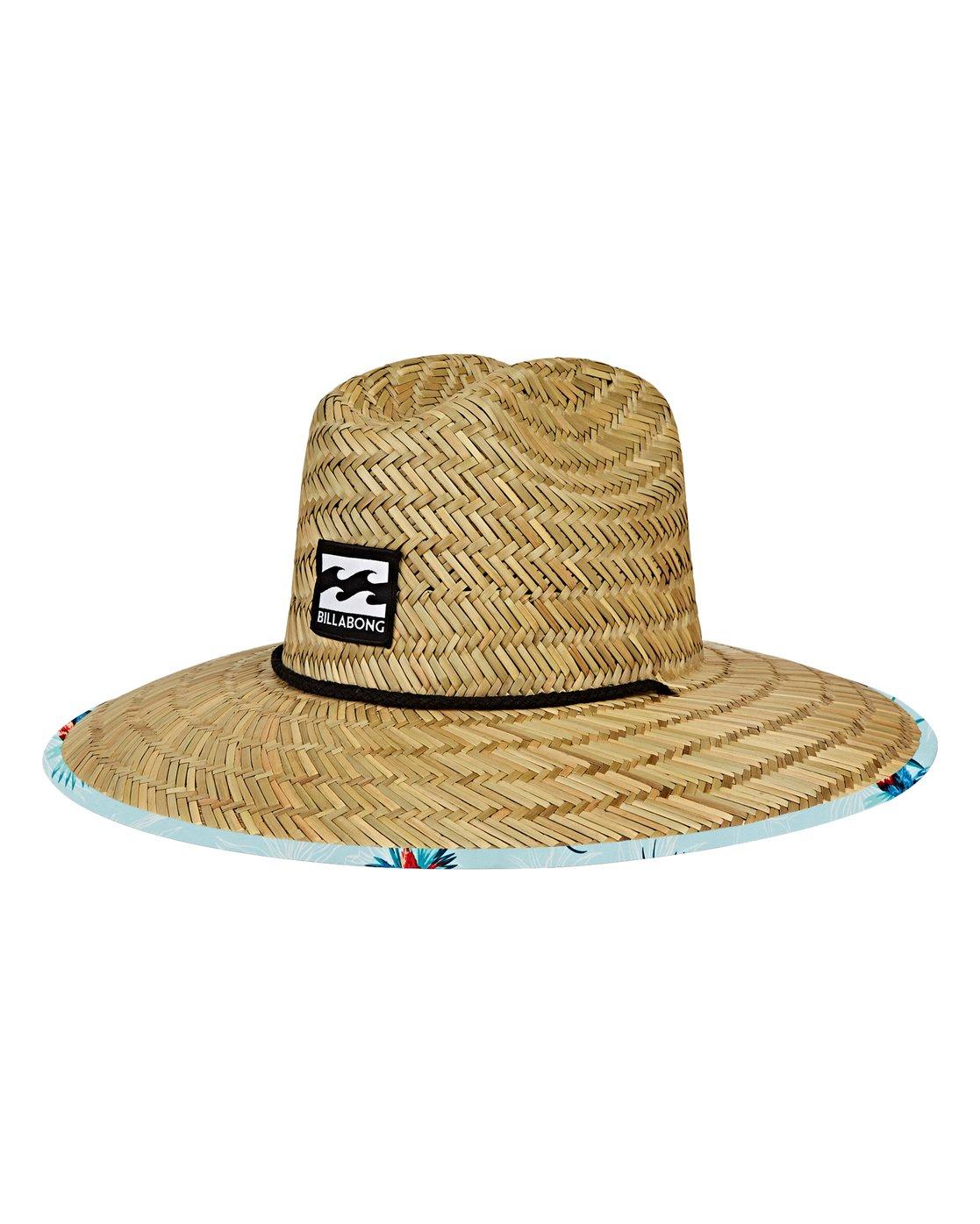 Tides Print Lifeguard Straw Hat Mahwvbtp