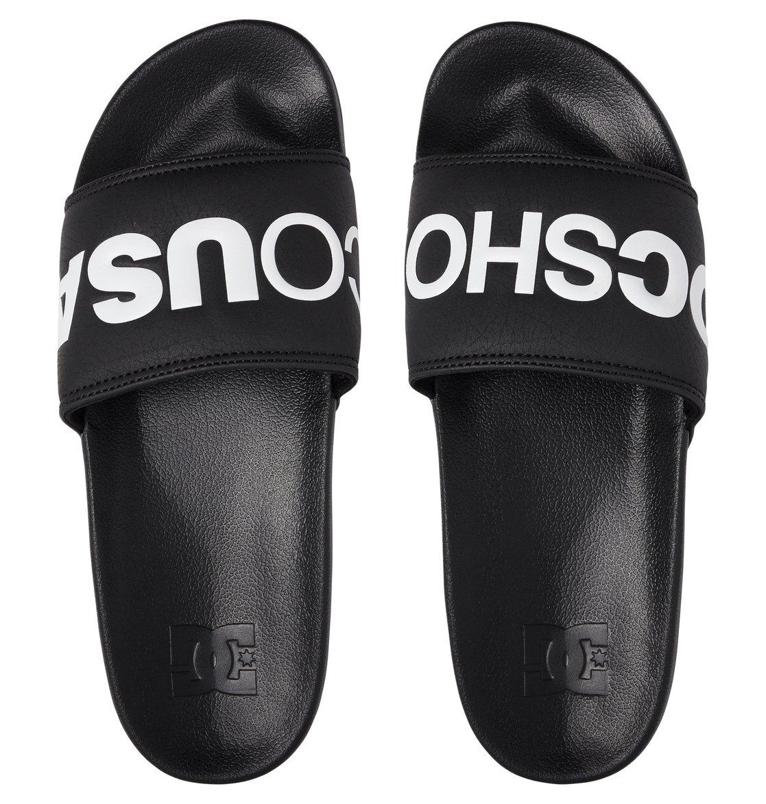 Mens Black And White Slip On Shoes