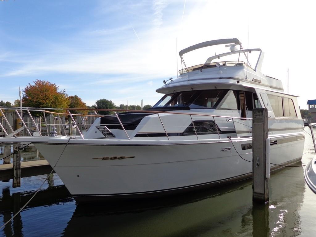 1988 chris craft 501 motor yacht holland united states anchoragechris craft 501 motor yachtimage [ 1024 x 768 Pixel ]