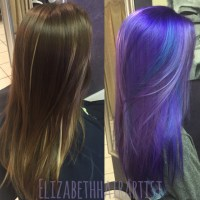 Makeover: Perfectly Melted Purple and Blue - Hair Color ...