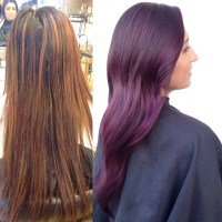 TRANSFORMATION: Plum Color Melt - Career - Modern Salon