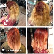 color melting and ombre