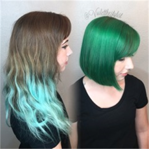 HOWTO Grown Out Fashion To Emerald Green  Hair Color