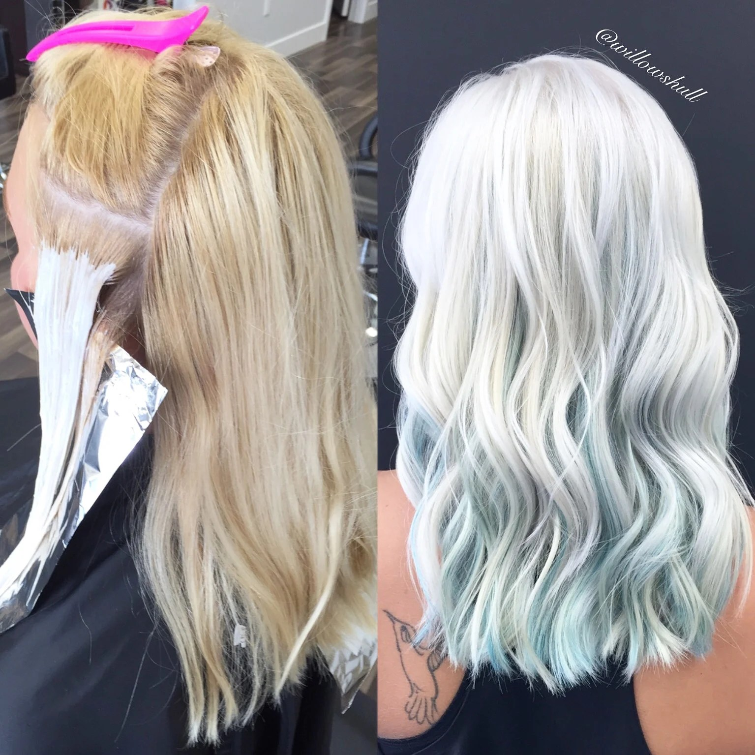 Makeover Box Blonde To Icy Blonde With Gentle Blue Peek A