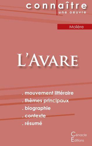 Tartuffe Analyse De L Oeuvre : tartuffe, analyse, oeuvre, Fiche, Lecture, L'Avare, Molière, (Analyse, Littéraire, Référence, Résumé, Complet)