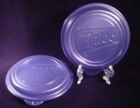 "Four ea Ziploc TableTops Plastic 10"" Dinner Plates w/lids"