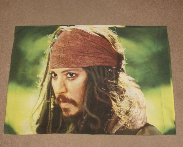 Johnny Depp Jack Sparrow Pirates Of Caribbean Pillowcase - Bedding