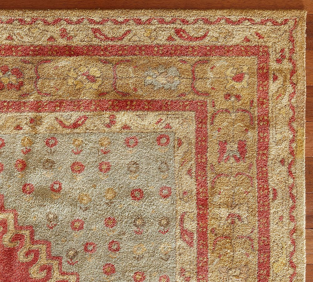 New Pottery Barn Handmade Persian BINDU Persian Style Area Rug 3x5  Rugs  Carpets
