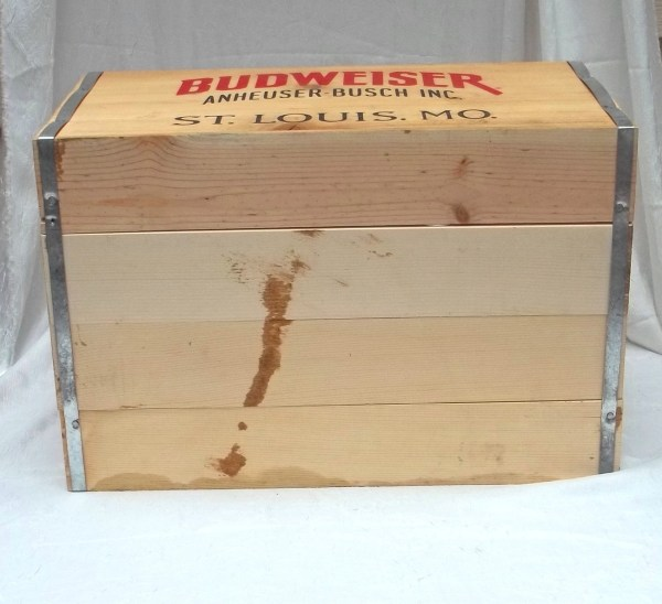 Budweiser Wooden Beer Crate Cooler Year Of Clean Water