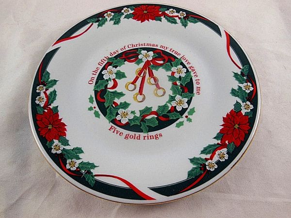 Tienshan Deck Halls Fine China 5th Day Of Christmas 7