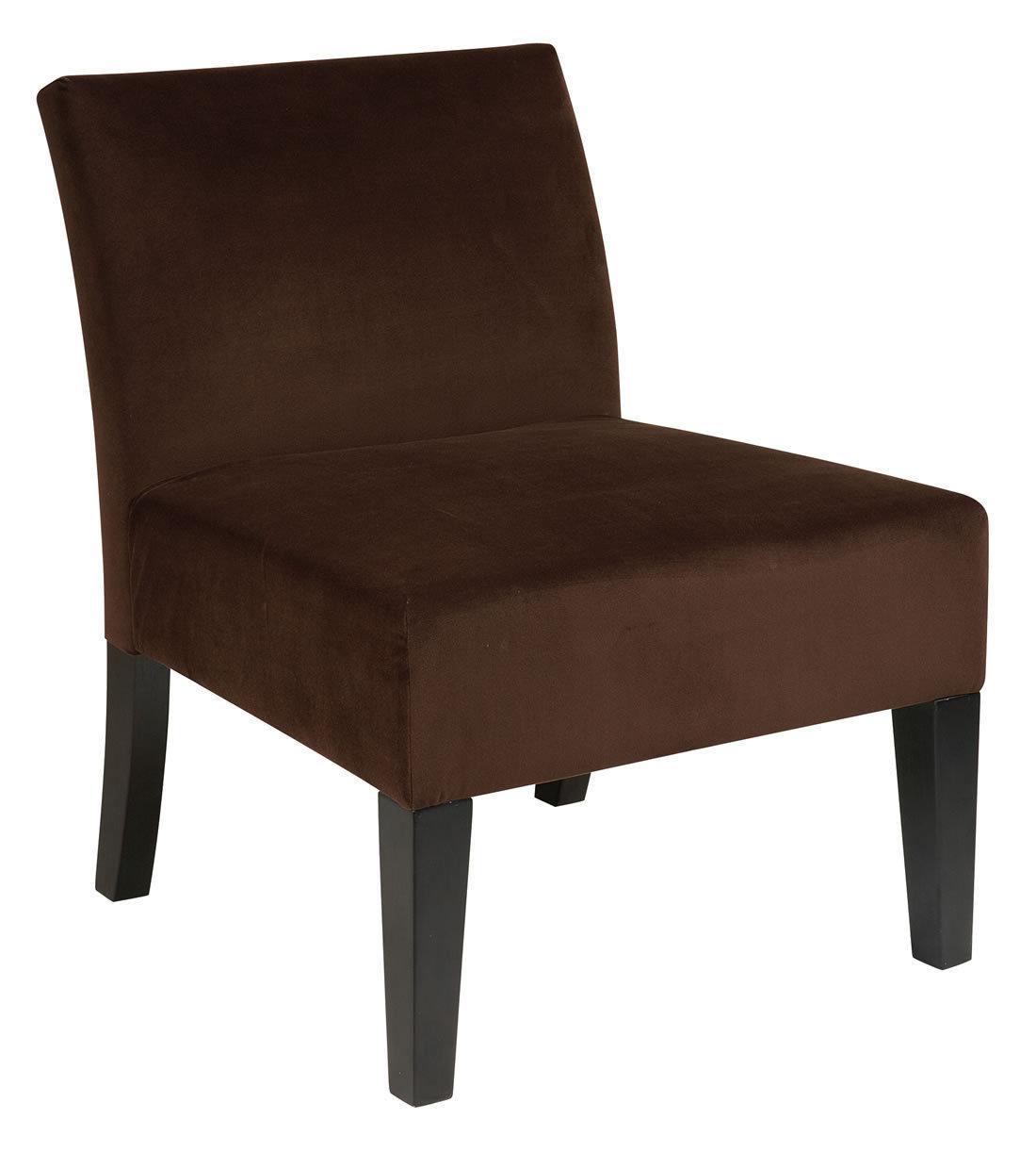 brown accent chairs pvc adirondack ave six laguna armless living room chair chocolate
