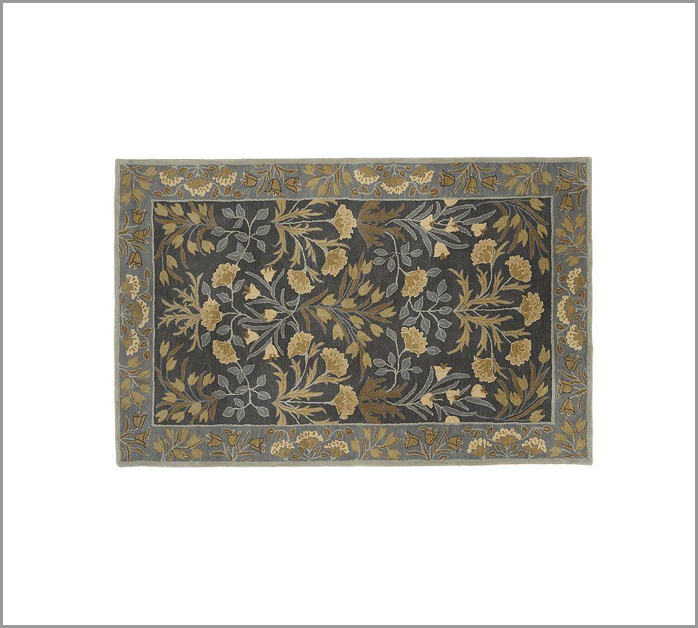 New Pottery Barn Handmade Persian ADELINE BLUE Rug 5X8  Rugs  Carpets