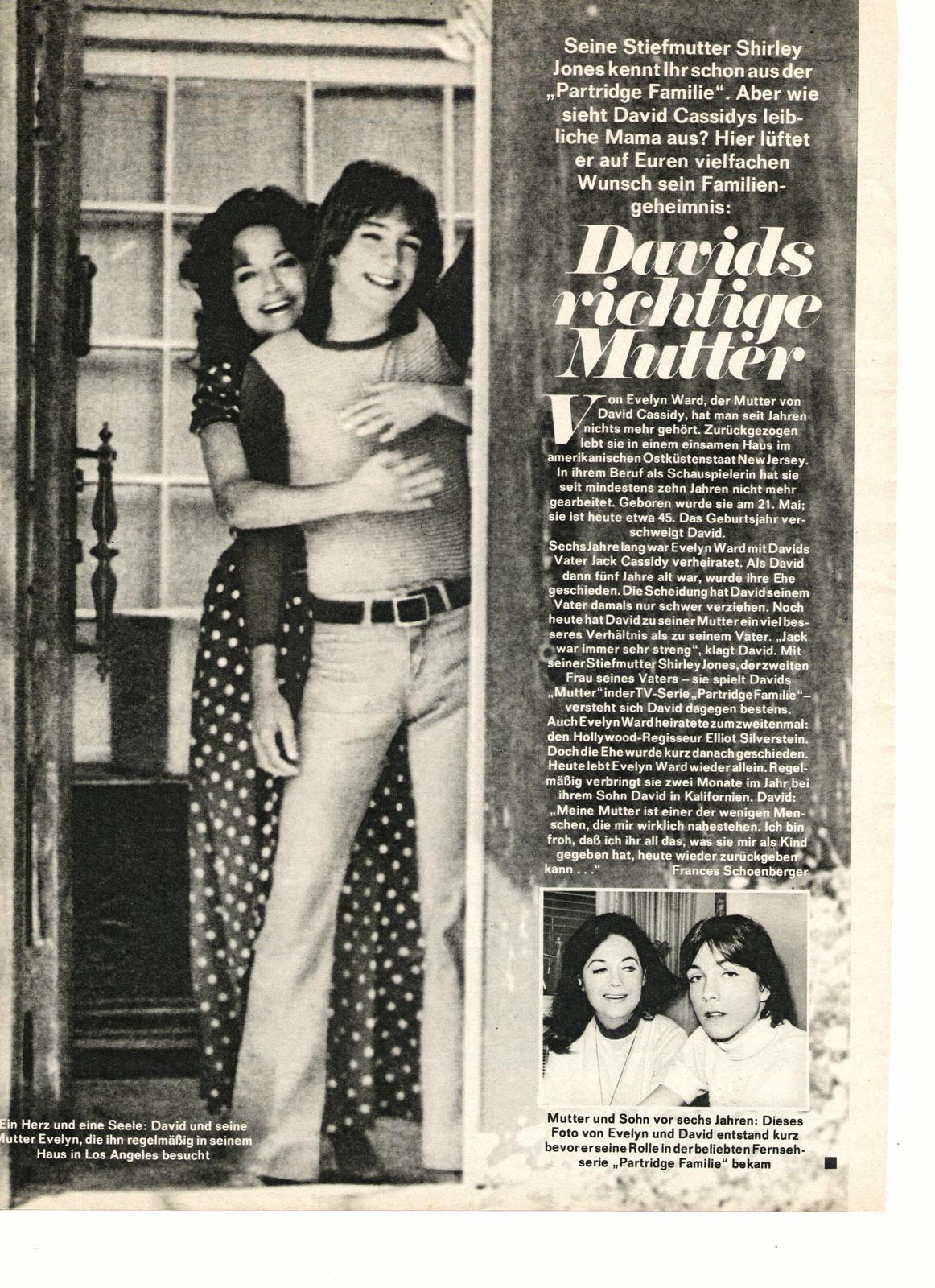 david cassidy teen magazine pinup